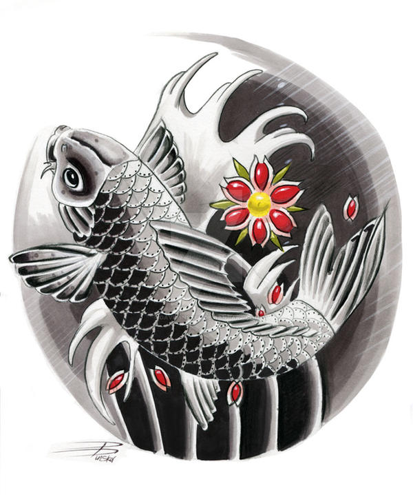 Japanese Tattoo Wallpaper: Japanese Koi Design By Davepinsker On DeviantArt