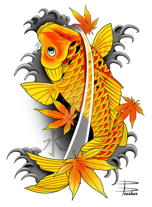 Japanese koi fish by davepinsker on deviantart for Japanese koi fish drawing