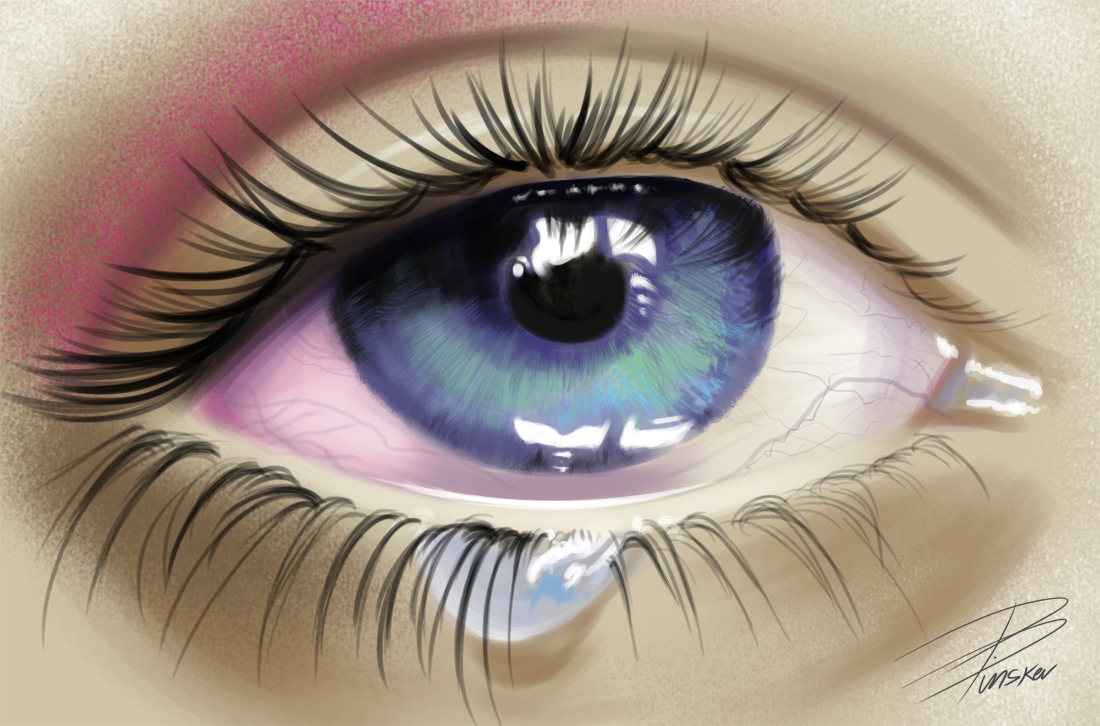 Crying Eye by davepinsker