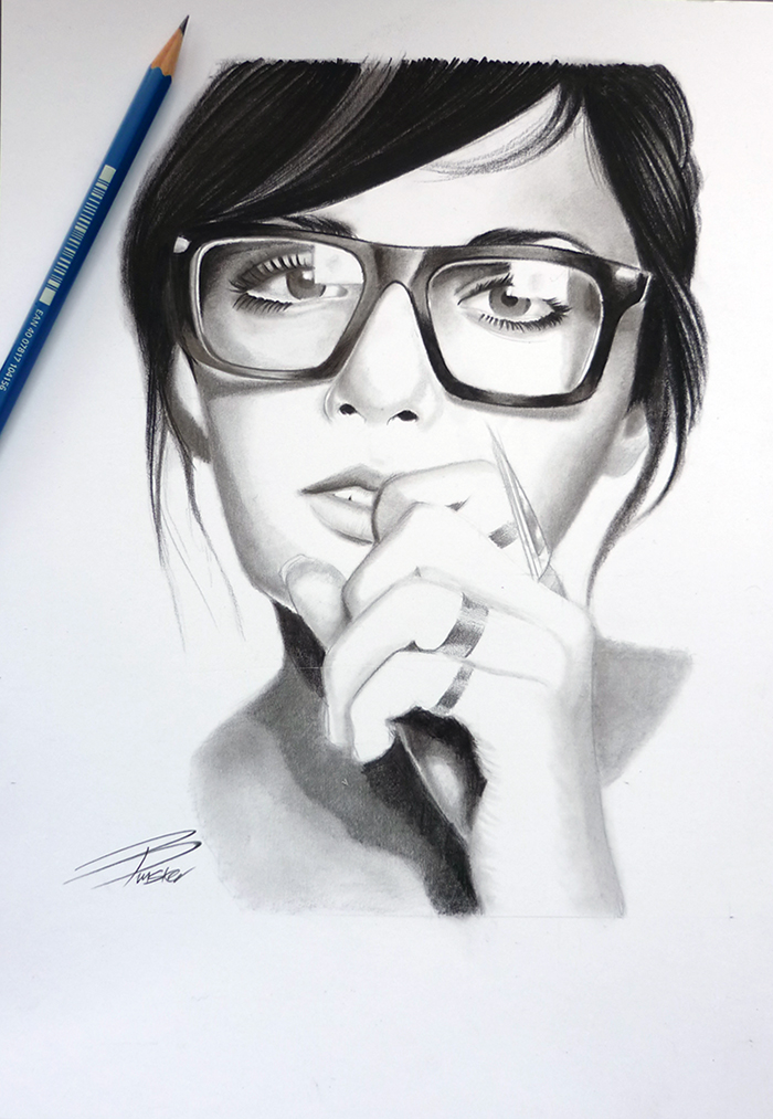 Girl With Glasses by davepinsker