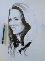 Kate Middleton WIP by davepinsker