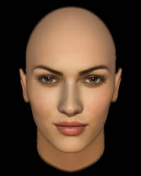 Megan Fox 3D - Head Render by zethib