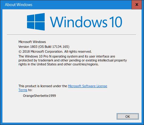 Windows 10 Pro N Build 1803 by SpecialsDong on DeviantArt