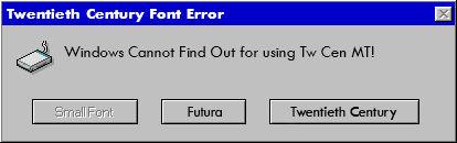 Tw Cen MT Error