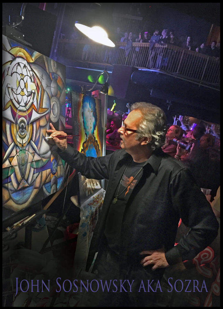 Sozra live painting Balto. 2015 New Years event. by Sozra