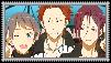Samezuka Trio Stamp by Shichi-Saruko