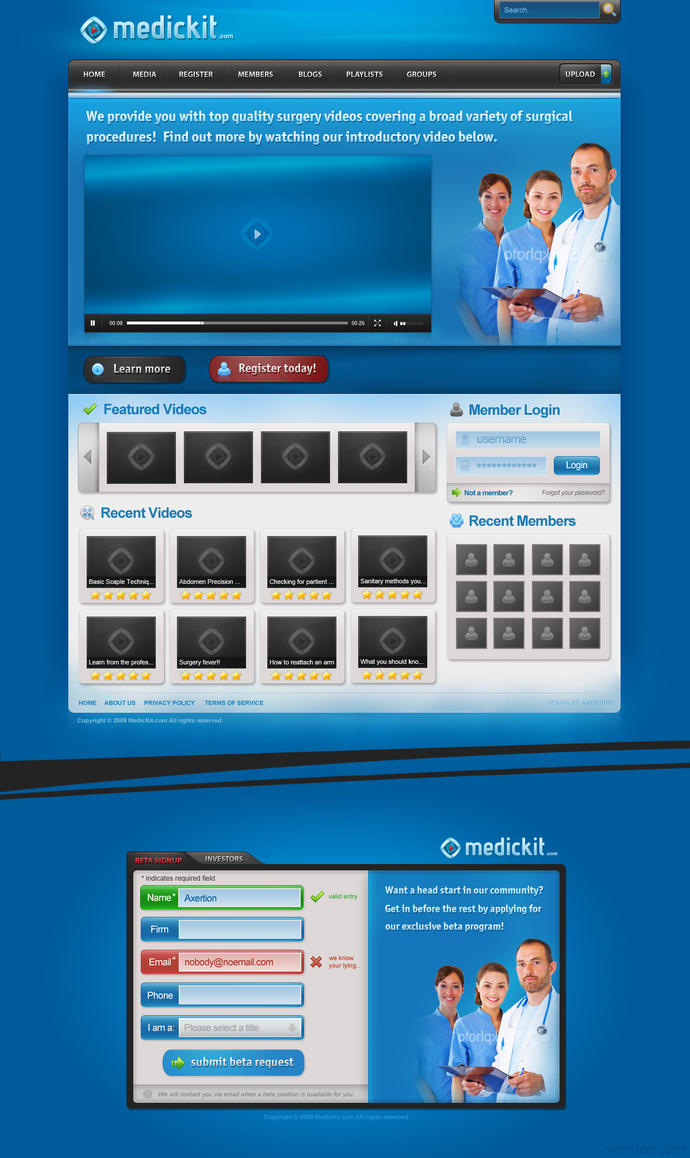 MedicKit.com Web Package by Axertion