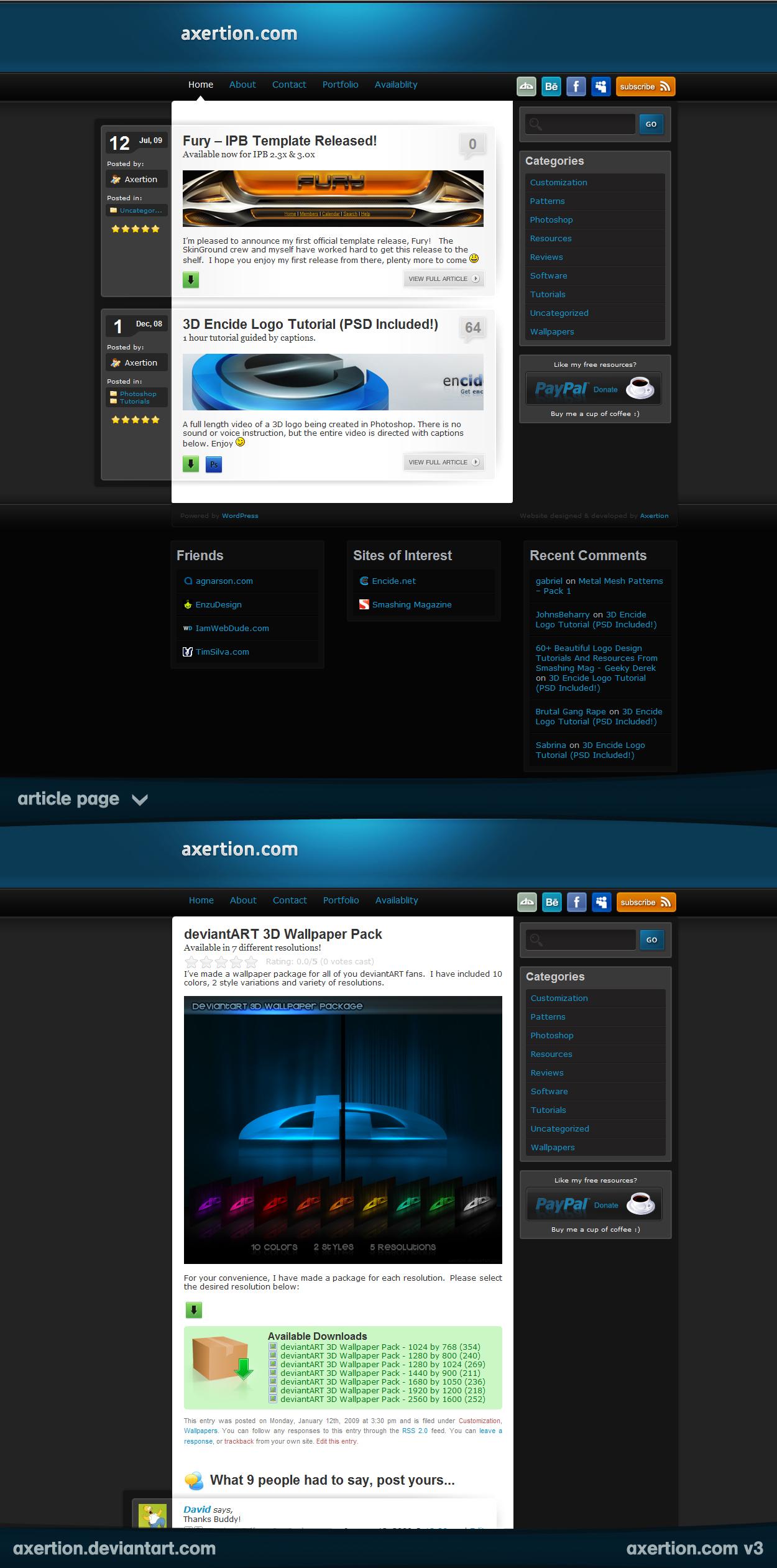 axertion.com v3 by Axertion