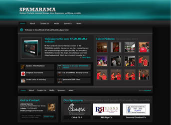 SPAMARAMA Website v2 by Axertion