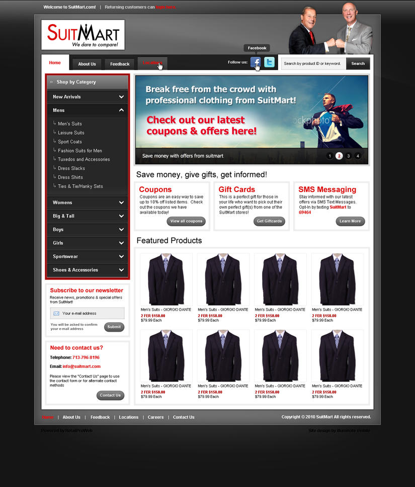 SuitMart - Website Template 1 by Axertion
