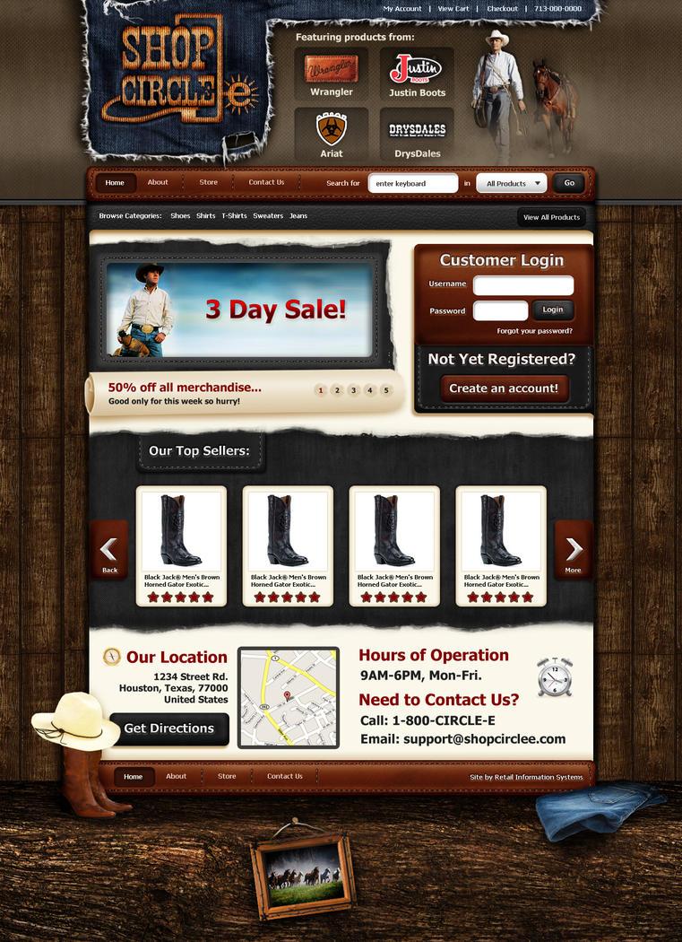 ShopCircleE - Website Concept by Axertion