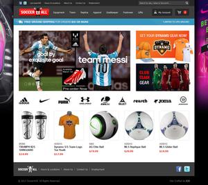 Soccer4All - Magento Website