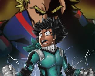 Boku no hero no academia, almight and deku by Zacrai