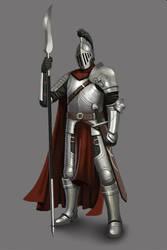 Rovanian Knight by MisterSnowLeopard