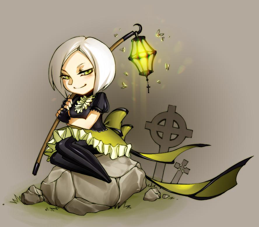 Lantern girl by Ann-Jey