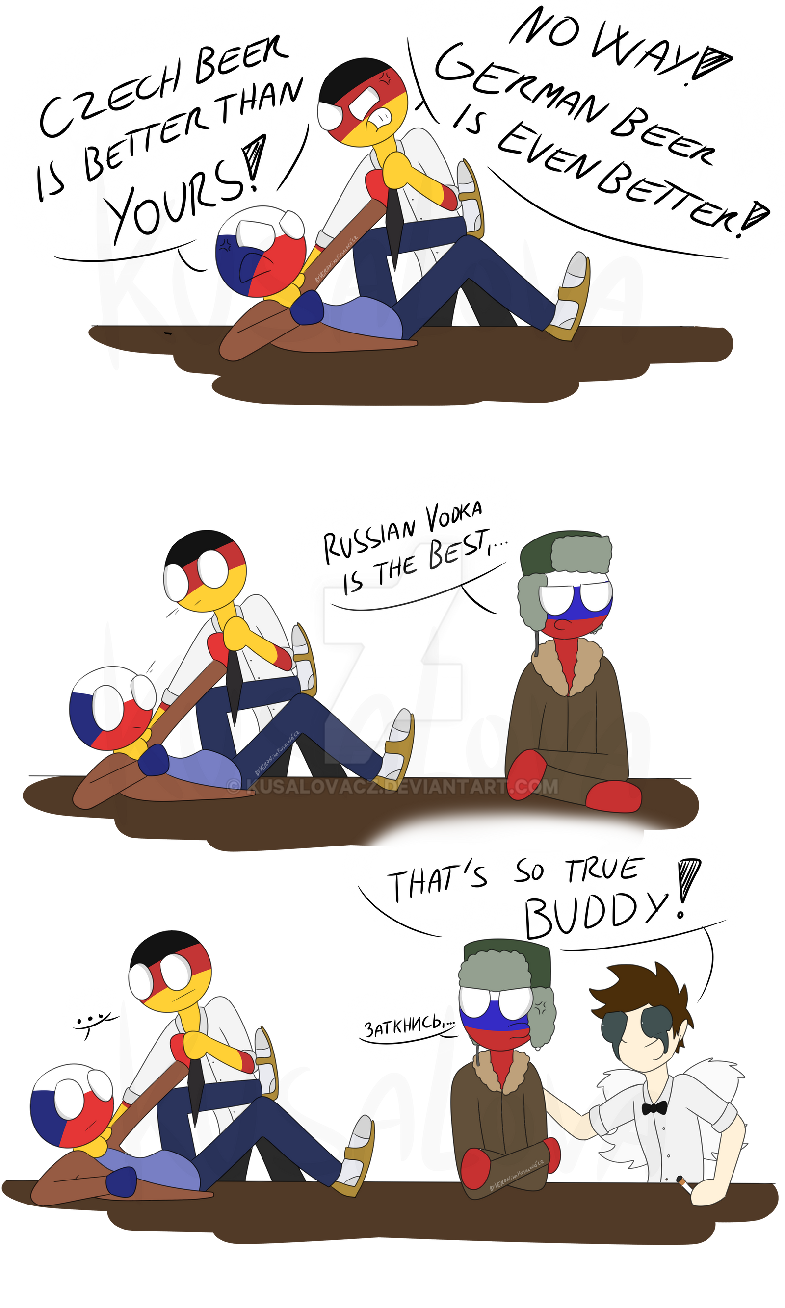The beer [CountryHumans Comic] by KusaLovaCZ on DeviantArt