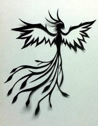Phoenix : Paper cutting