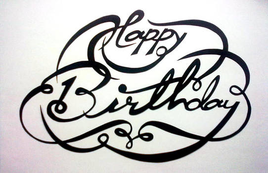 Paper Cutting : Birthday Special