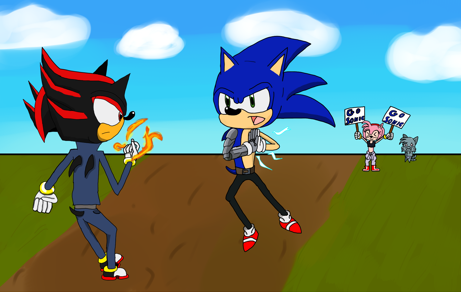 Sonic vs shadow by nintenfan96 on deviantart - Jeux de sonic vs shadow ...