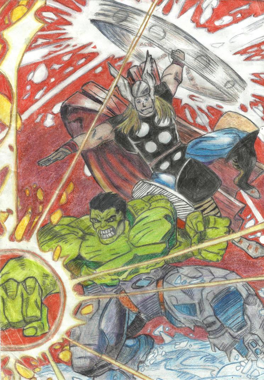 Hulk and Thor by anatglo100