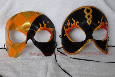 Fire masquerade masks