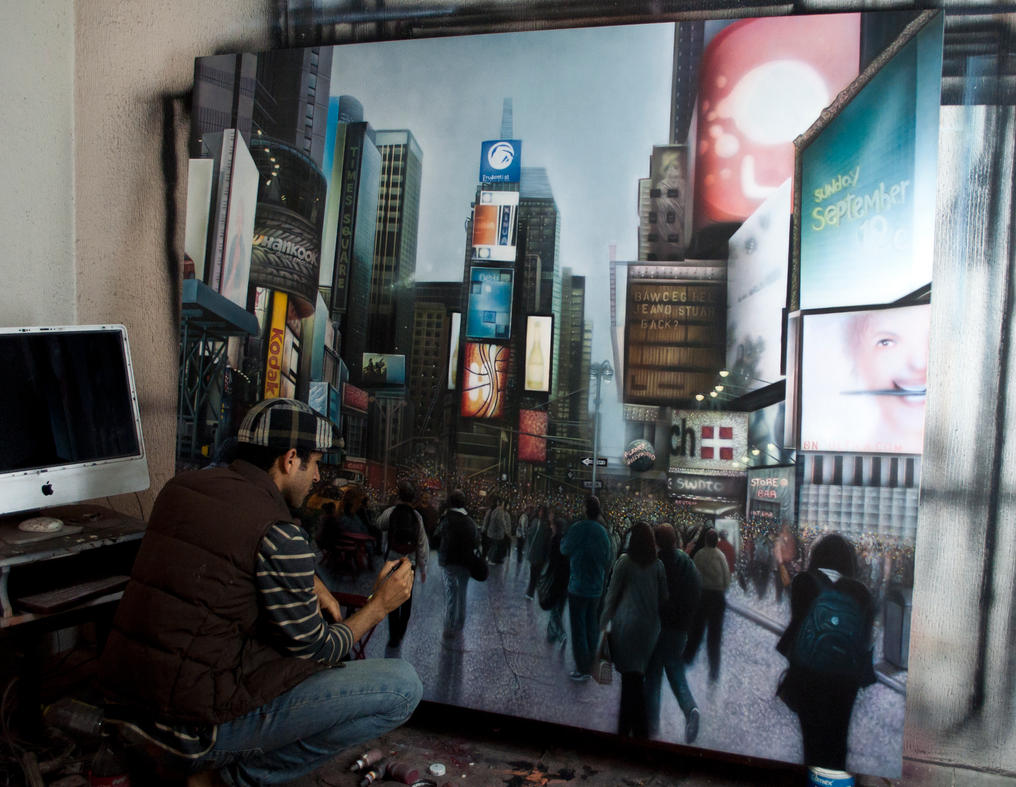 Time Square in progress by kamalky