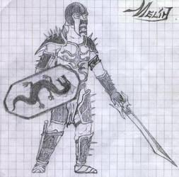Black Dragon Knight by melhamin