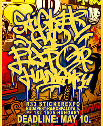 R33 - Sticker exhibition and street art festival by Ex1D