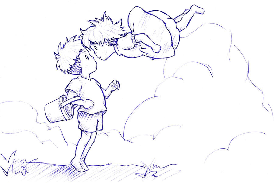 Pin ponyo colouring pages on pinterest for Ponyo coloring pages