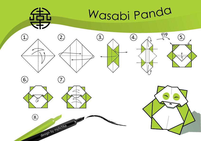 tutorial origami panda