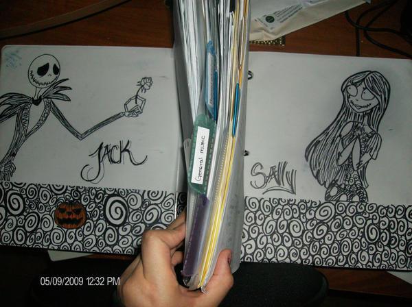 Jack And Sally Binder Drawing By Jackfreak1994 On DeviantArt