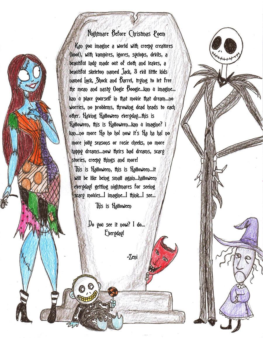 Nightmare before xmas poem by jackfreak1994 on DeviantArt