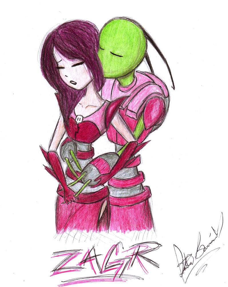 Zim and Gaz Romance by jackfreak1994Zim And Gaz Anime