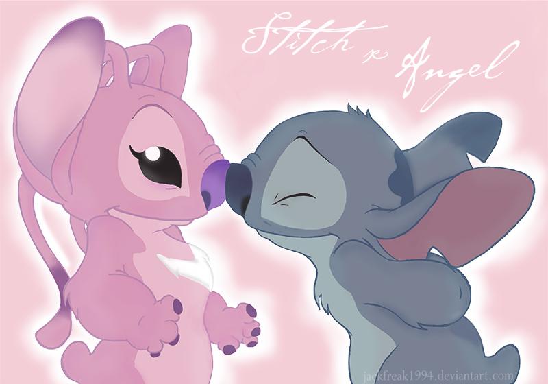 Stitch and Angel (2) by jackfreak1994