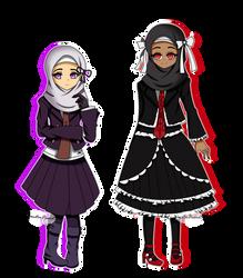 Gift: Yasmin Kirigiri And Aminah Lludenberg by YanstarPrior250