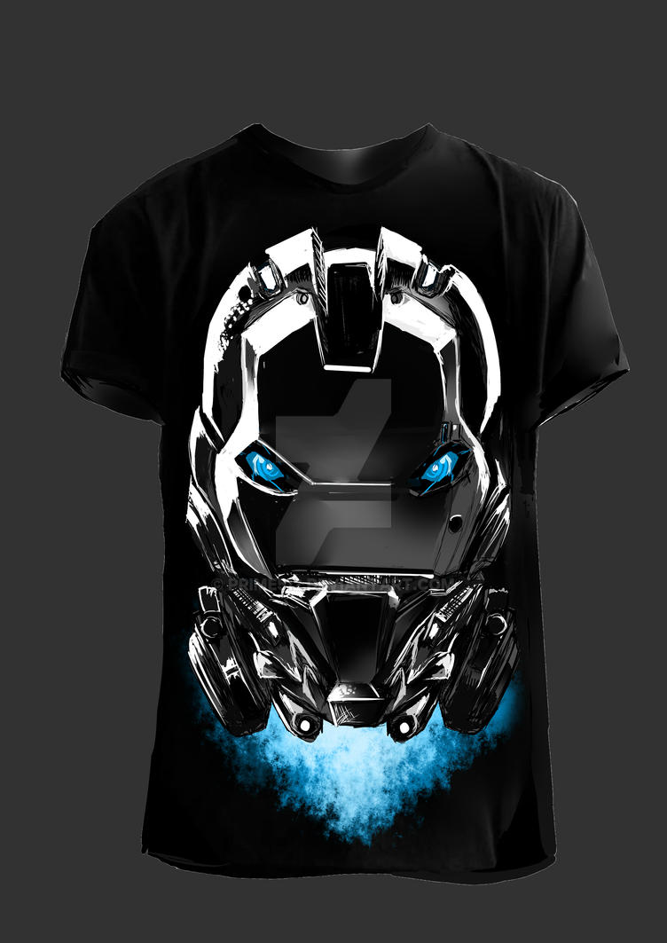 iron head shirt bw by prime512