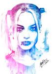 Margot Robbie Harley Quinn Portrait