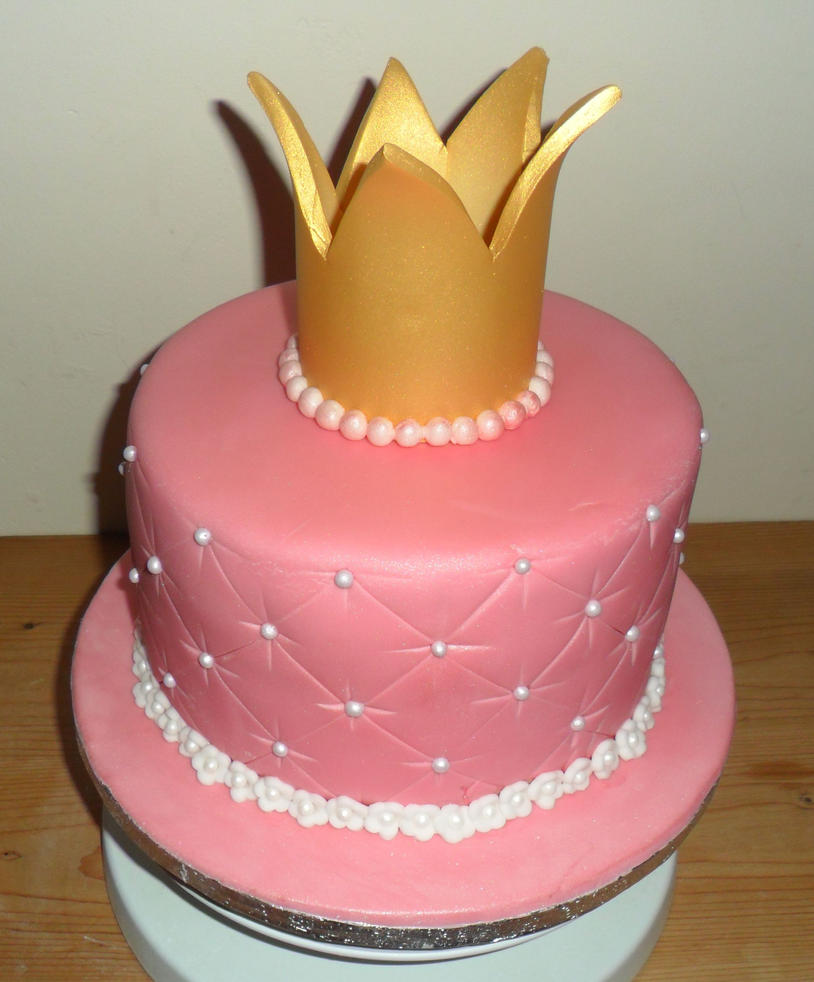 Cake With Crown On It : Princess crown cake by justliloleme on DeviantArt