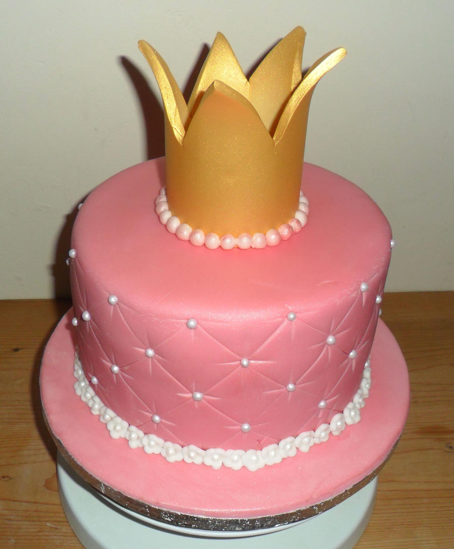 Princess Crown Cake Pictures : Princess crown cake by justliloleme on DeviantArt