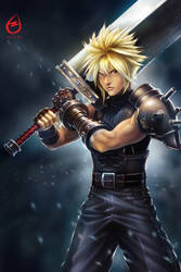 Cloud Strife by AllestEntertainment