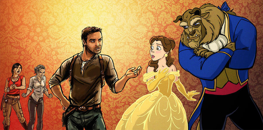 Beauty and the Beast Uncharted by mcguinnessjohn