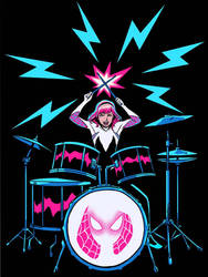 SpiderGwen Rock! by mcguinnessjohn