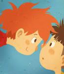 Ponyo y Sosuke