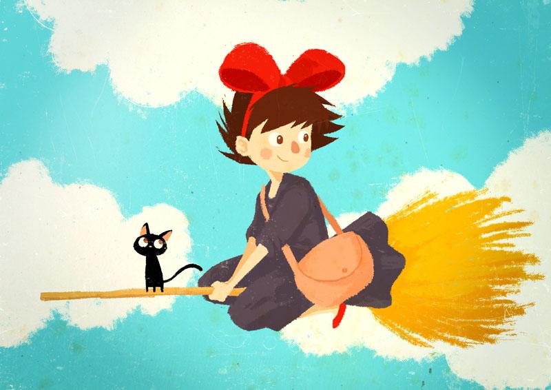 Kiki y su gato Jiji by peerro