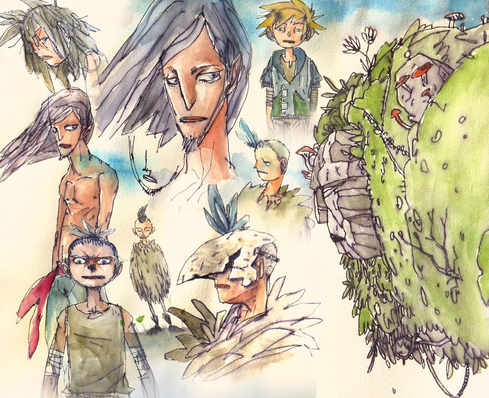 Sketches in watercolor by peerro