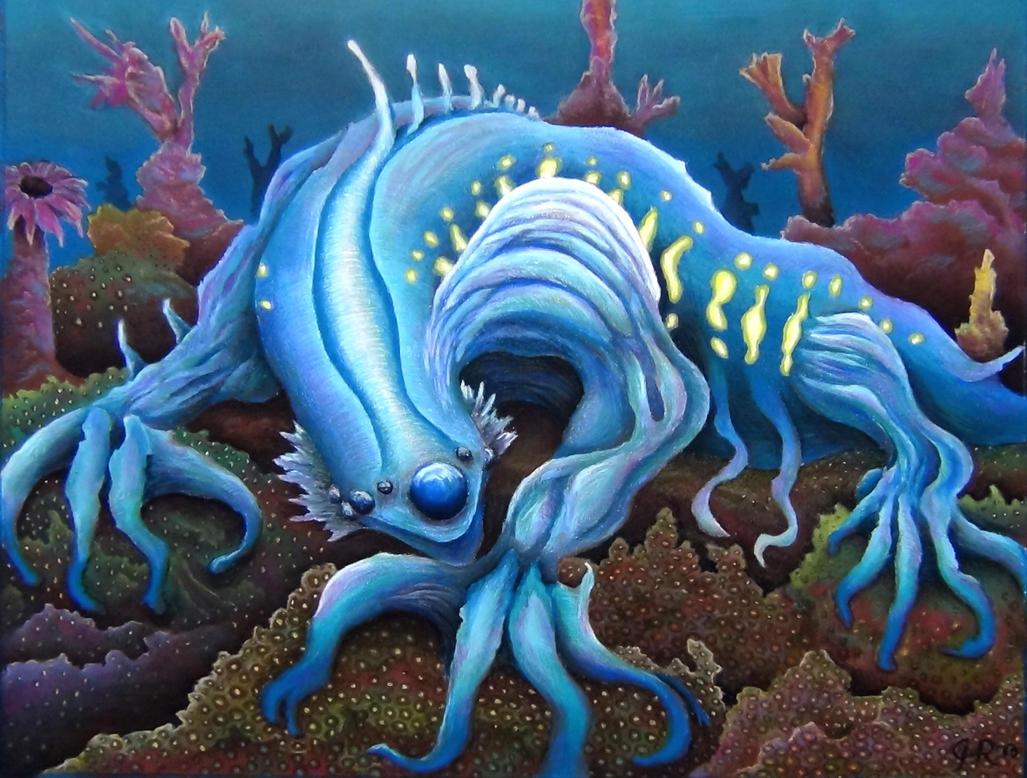 Glaucus Atlanticus Blue Sea Slug by NeoRa...
