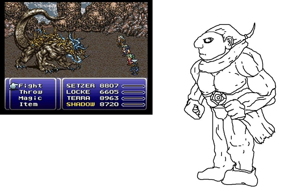 Misunderstood Final Fantasy VI Shadow Design by NeoRagnarok