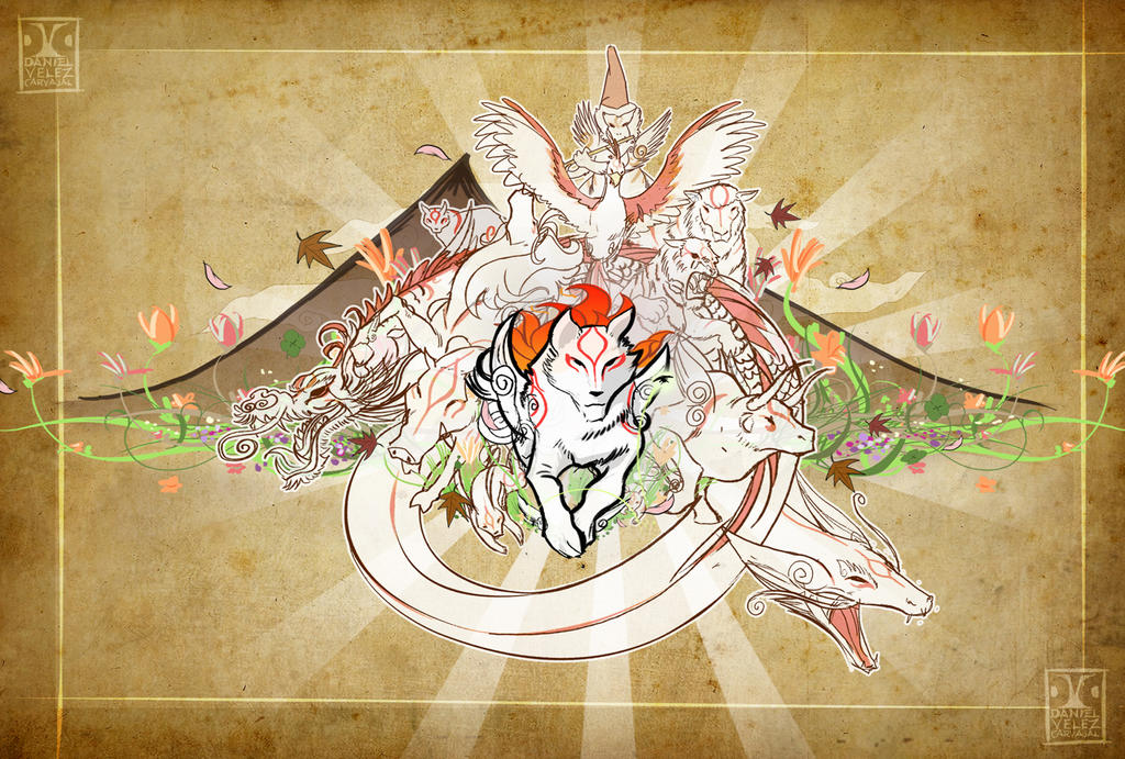 Okami brush gods by Daniel-Velez