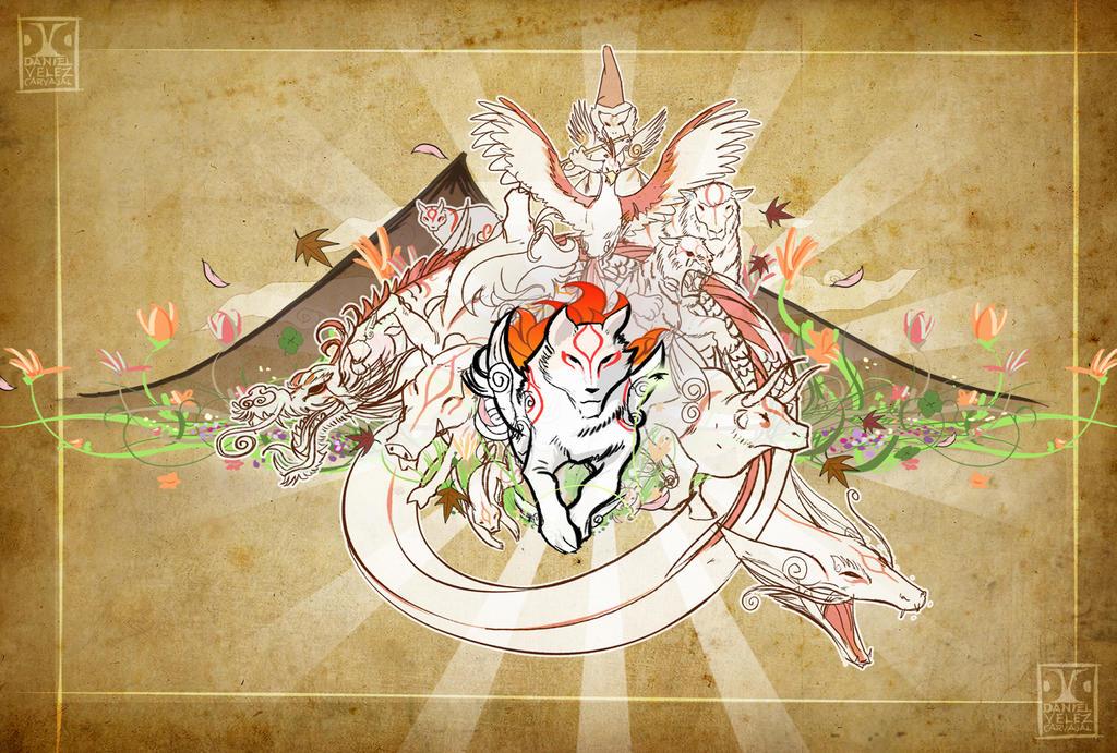 Okami brush gods by Daniel-Velez