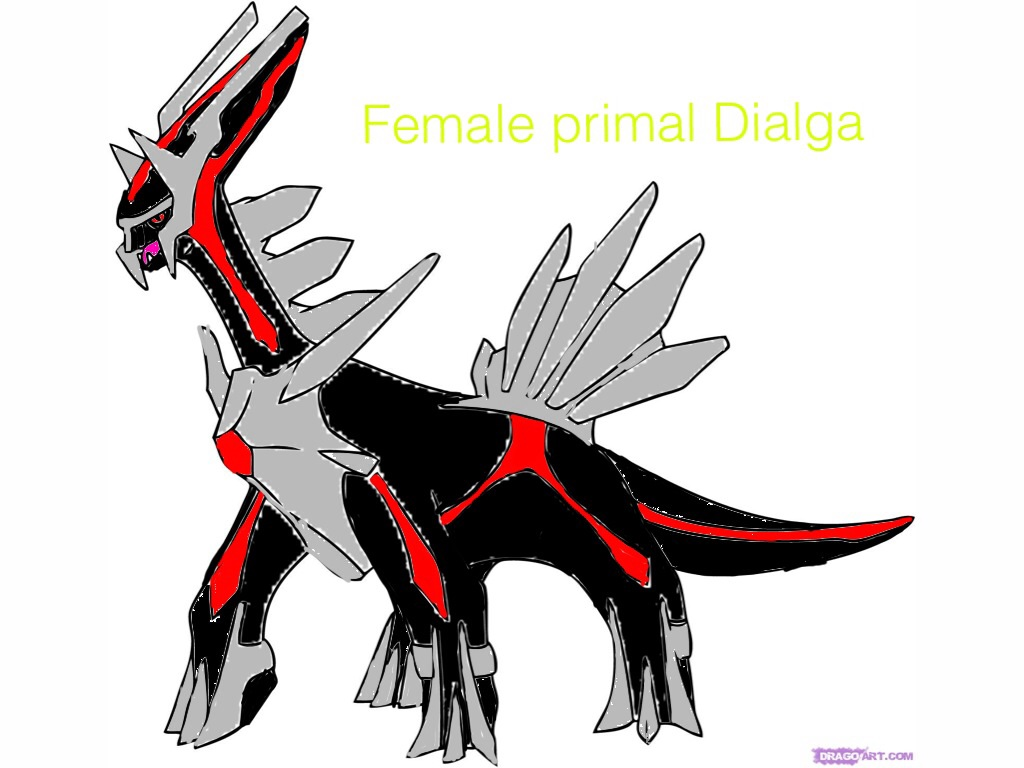 Female primal dialga by LinkFudo39
